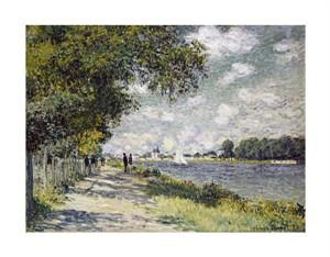"Claude Monet Fine Art Open Edition Giclée:""The Seine at Argenteuil"""