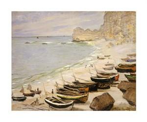 "Claude Monet Fine Art Open Edition Giclée:""Boat on the Beach at Etretat"""