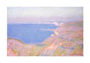 """Claude Monet Fine Art Open Edition Giclée:""""On the Cliffs Near Dieppe, Sunset"""""""