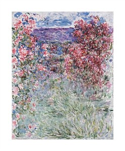 "Claude Monet Fine Art Open Edition Giclée:""The House in the Roses"""