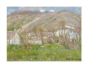 "Claude Monet Fine Art Open Edition Giclée:""Hamlet on the Cliffs Near Giverny"""