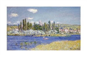 "Claude Monet Fine Art Open Edition Giclée:""Vetheuil"""
