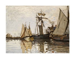 "Claude Monet Fine Art Open Edition Giclée:""The Port of Honfleur"""