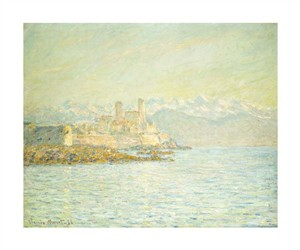 "Claude Monet Fine Art Open Edition Giclée:""The Old Fort at Antibes"""