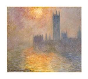 """Claude Monet Fine Art Open Edition Giclée:""""Parliament at Sunset"""""""