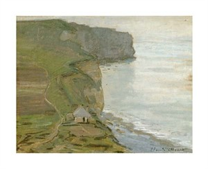 "Claude Monet Fine Art Open Edition Giclée:""Cape Antifer, Etretat"""