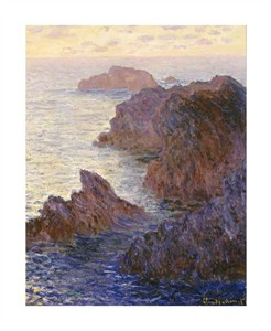 "Claude Monet Fine Art Open Edition Giclée:""Rocky Point at Port-Goulphar"""