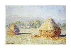 "Claude Monet Fine Art Open Edition Giclée:""Haystacks, Morning Effect"""