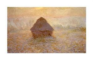 "Claude Monet Fine Art Open Edition Giclée:""Haystacks, Sun on the Mist"""