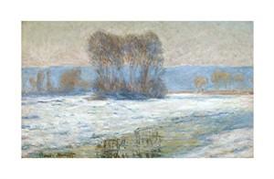 """Claude Monet Fine Art Open Edition Giclée:""""The Seine at Bennecourt, Winter"""""""