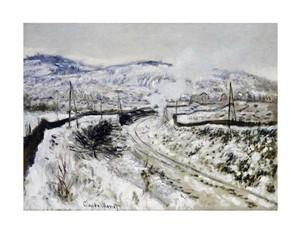 "Claude Monet Fine Art Open Edition Giclée:""Train in the Snow at Argenteuil"""