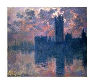 """Claude Monet Fine Art Open Edition Giclée:""""Parliament, Sunset"""""""