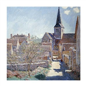 "Claude Monet Fine Art Open Edition Giclée:""Bennecourt"""