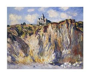 "Claude Monet Fine Art Open Edition Giclée:""Church of Varengeville, in the Morning"""