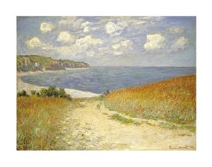 "Claude Monet Fine Art Open Edition Giclée:""Path in the Wheat at Pourville"""