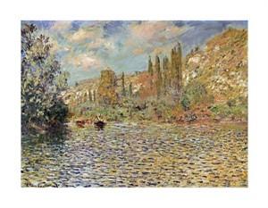 "Claude Monet Fine Art Open Edition Giclée:""The Seine at Vetheuil"""