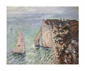 """Claude Monet Fine Art Open Edition Giclée:""""L'Aiguille and the Porte D'Eval, Etretat"""""""