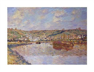 """Claude Monet Fine Art Open Edition Giclée:""""End of the Afternoon, Vetheuil"""""""