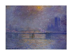 "Claude Monet Fine Art Open Edition Giclée:""Charing Cross Bridge, the Thames"""