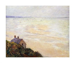 "Claude Monet Fine Art Open Edition Giclée:""The Hut at Trouville; Low Tide"""