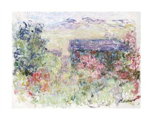 "Claude Monet Fine Art Open Edition Giclée:""The House Through the Roses"""