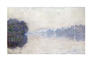 "Claude Monet Fine Art Open Edition Giclée:""The Seine Near Vernon, As Seen in the Morning"""