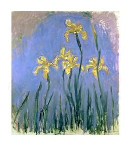 """Claude Monet Fine Art Open Edition Giclée:""""Yellow Irises"""""""