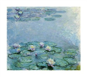 """Claude Monet Fine Art Open Edition Giclée:""""Water Lilies"""""""