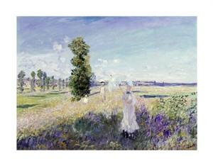 """Claude Monet Fine Art Open Edition Giclée:""""La Promenade at Argenteuil"""""""