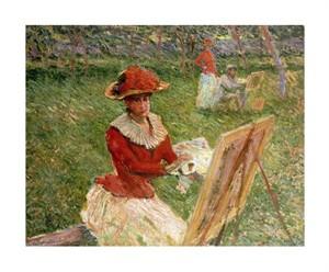 """Claude Monet Fine Art Open Edition Giclée:""""Blanche Hoschede Peignant"""""""