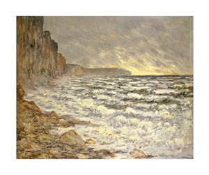 "Claude Monet Fine Art Open Edition Giclée:""Seafront, Fecamp"""