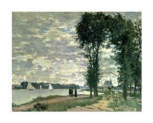"Claude Monet Fine Art Open Edition Giclée:""The Banks of the Seine at Argenteuil"""