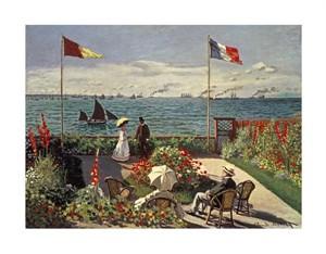 """Claude Monet Fine Art Open Edition Giclée:""""The Terrace at Sainte-Adresse"""""""