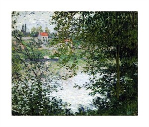 "Claude Monet Fine Art Open Edition Giclée:""The Island of La Grande Jatte, Through the Trees"""