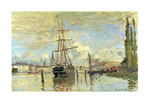 "Claude Monet Fine Art Open Edition Giclée:""The Seine at Rouen"""