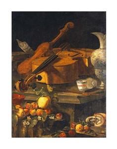 """Christoforo Munari Fine Art Open Edition Giclée:""""A Violin, a Cello, a Bow, a Sheet"""""""