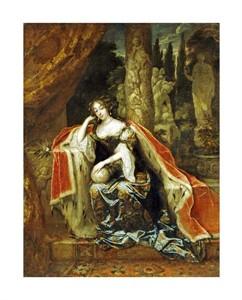 """Caspar Netscher Fine Art Open Edition Giclée:""""Portrait of Queen Mary Stuart II"""""""