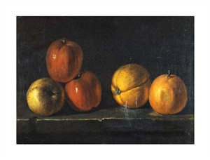 "Jacques Charles Oudry Fine Art Open Edition Giclée:""Still-Life with Oranges"""