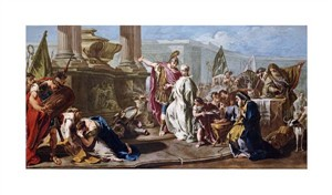 "Giovanni Battista Pittoni Fine Art Open Edition Giclée:""The Sacrifice of Polyxena at the Tomb of Achilles"""