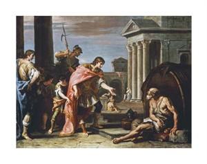 "Sebastiano Ricci Fine Art Open Edition Giclée:""Alexander and Diogenes"""