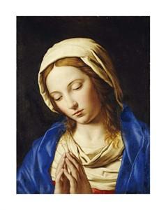 "Giovanni Battista Salvi Fine Art Open Edition Giclée:""The Madonna at Prayer"""