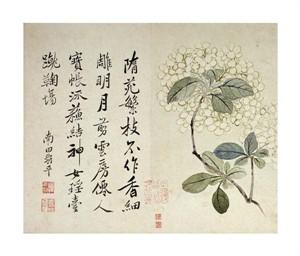 "Yun Shouping Fine Art Open Edition Giclée:""Hydrangeas"""