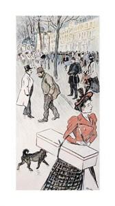 """Theophile Steinlen Fine Art Open Edition Giclée:""""A Street Scene"""""""