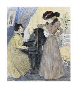 "Theophile Steinlen Fine Art Open Edition Giclée:""The Great Pains"""