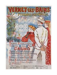 "Theophile Steinlen Fine Art Open Edition Giclée:""Vernet-Les-Bains"""