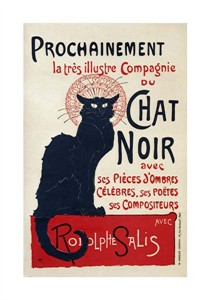 """Theophile Steinlen Fine Art Open Edition Giclée:""""Prochainement, Chat Noir"""""""