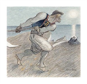 "Theophile Steinlen Fine Art Open Edition Giclée:""The Big Reaper"""