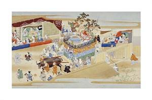 "Sumiyoshi School Fine Art Open Edition Giclée:""Festival Scene"""