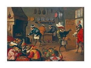 """David Teniers II Fine Art Open Edition Giclée:""""Les Singes Cuisiniers. The Monkey's Cooks"""""""
