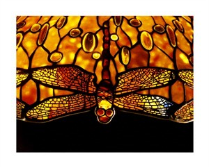 "Tiffany Studios Fine Art Open Edition Giclée:""Detail of an Important Dichroic Dragonfly"""